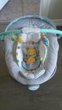 Excellent conditon baby's gray and green bouncer