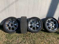 "22"" Rims with tire set Fort Washington, 20744"
