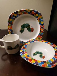 """Portmeirion made Eric Carle's """"The Very Hungry Caterpillar"""" dish set London, N6H 4S4"""