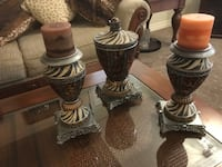 3 brown candle holders Hamilton, L8J 0A3