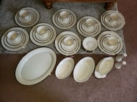 Lenox 46 Piece Ivory and Silver Solitaire Fine China Set Dishes Farmington Hills, 48334