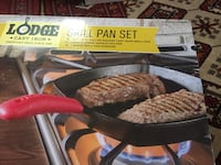 Lodge outdoor grill and lodge grill pan. Two items for the price of one. Arlington, 22207