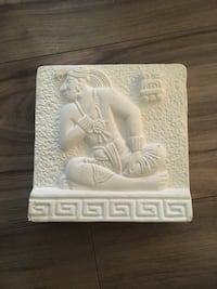 White mayan  god tablet