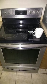 gray stainless steel induction range