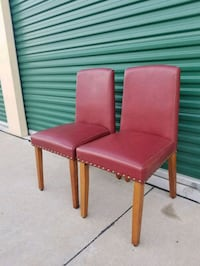 two red leather padded chairs Frisco, 75034