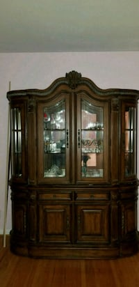 brown wooden framed glass china cabinet Cherry Hill, 08034