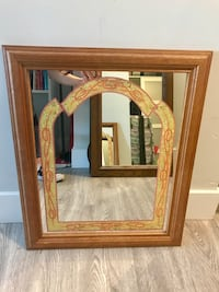 brown wooden framed wall mirror Port Coquitlam, V3C 3C8