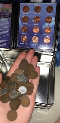 65 Indian head pennies and 5 steel pennies and a 10th anniversary of the euro Ballston Lake, 12019