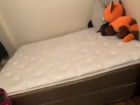 Queen single sided pillow top mattress and box spring  274 mi