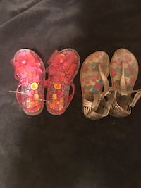 Two pair of girl's sandals