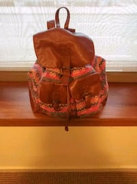 7dd17e694 Used red and brown floral leather tote bag for sale in Pittsburgh ...