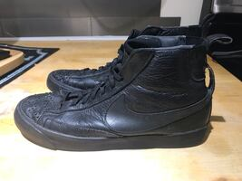 Nike Lab black leather sneaker boot 7.5 slip on