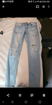 distressed blue-washed jeans Albuquerque, 87120