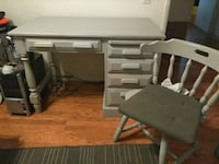 Light grey desk all wood with matching chair  Chula Vista, 91911