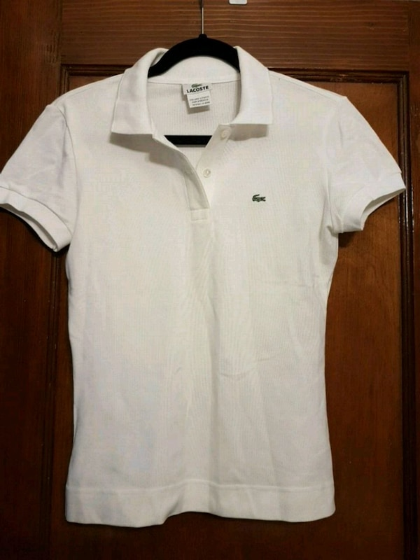 Womens white lacoste polo 0
