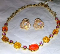 beautiful stone necklace and rose gold matching earrings Winchester, 40391