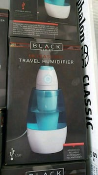 blue and white Black Series travel humidifier box Lancaster, 93536
