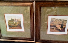 Set of 2 framed and matted prints