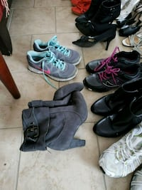 21 pairs of assorted shoes 727 km