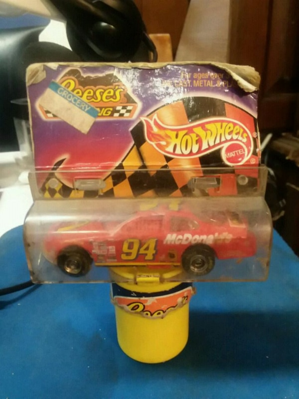red 94 NASCAR Hot Wheels stock car die-cast model with blister pack