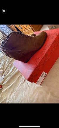 Brown booties size 6 1/2 Lancaster