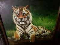 3' x 3' tiger painting Elkhart
