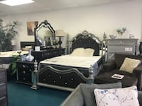 Silver and black bed Stafford, 77477