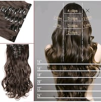 human hair hand made hair extensions clips