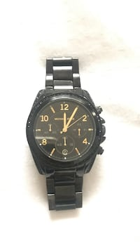 Round black Michael Kors chronograph watch with black link band San Diego, 92117