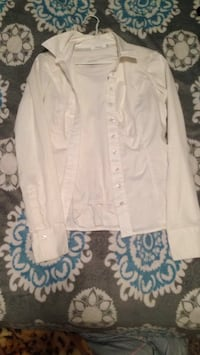 white button-up long-sleeved shirt Medicine Hat, T1A 7Y2