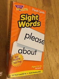 Flash cards for sight words New York, 11421