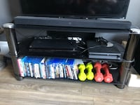 Tempered glass tv stand great condition