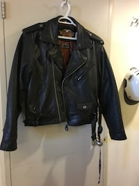 Men's genuine black leather Harley Davidson jacket