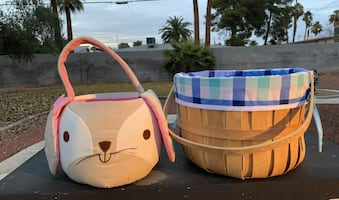 Boy and girl Easter baskets