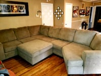 gray fabric sectional sofa with ottoman Dallas, 75202