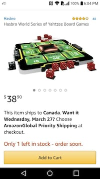 NEW world series of yahtzee board game SELLS FOR $ Edmonton, T6X 1J9
