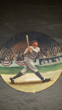 Babe Ruth collectable plate, limited edition