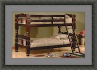 Twin wooden bunkbed frame Woodbridge, 22191