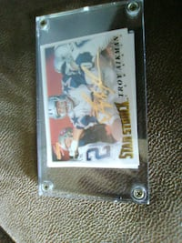 Troy aikman 24kt gold signature with coa