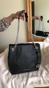 Black michael kors leather tote bag FREDERICK