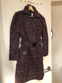 Purple and black Trench-coat - Moving sale Toronto, M5E 0A2