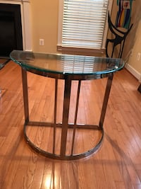 Contemporary Chrome and Glass Entryway Table Rockville, 20850