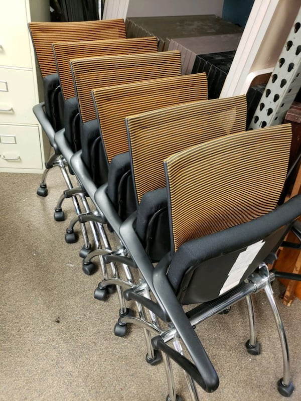 Nesting chair with casters 34f13454-7503-4511-8c39-f265517a5019