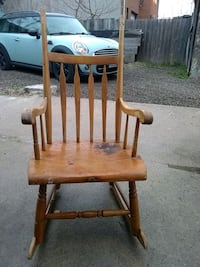 brown wooden rocking chair with table Toronto, M6K 2A5