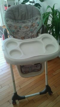 baby's white and gray high chair Rockville