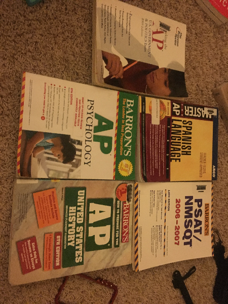 five assorted textbooks 2243 mi