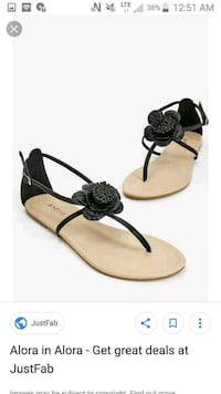 Justfab sandals NEW Greater Sudbury, P3A 5T8
