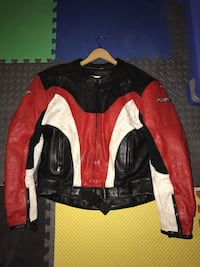 black red and white leather racing jacket Upper Marlboro, 20774