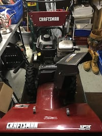 red and black Craftsman snow blower