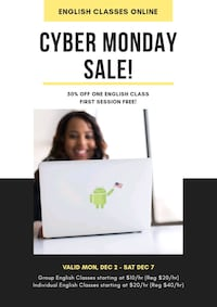 English Classes - CYBER MONDAY SALE Capitol Heights